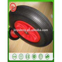 400-8 16 inch color pu solid foam wheel for wheelbarrow ,Plastic rim Farm machinery wheel,parts,accessories