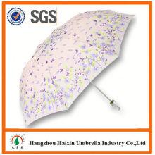 Dernière usine gros Parasol impression Logo super mini manuel 3 pli, parapluie