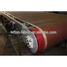 SGS a passé ptfe teflon surface de revêtement fibre de verre cadran ouvert ceinture ceinture en téflon