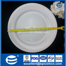 Placa de servicio de comida redonda de 12 pulgadas de cerámica blanca duradera