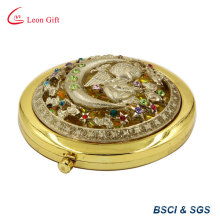 Gold Engraved Round Makeup Mirror Online for Sale