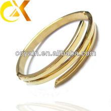 O bracelete o mais atrasado do projeto do aço inoxidável com chapeamento de ouro