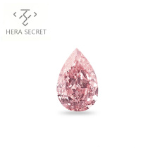 ForeverFlame 5ct fancy pink  Pear Cut Angel's tears  diamond CVD CZ color Moissanite