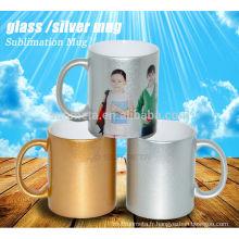 Sublimation or / argent perle mug en gros