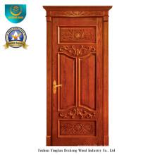 Porta de madeira maciça estilo europeu com Roma (ds-025)