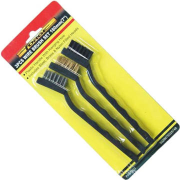 Hand Tools Mini Wire Brush Set OEM for Construction 3PCS