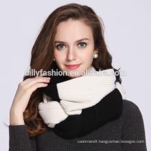 Fashion european style women two color design 100% cashmere scarf 2017