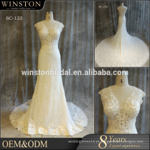 Melhores vendas de qualidade para frete grátis no vestido de noiva mundial
