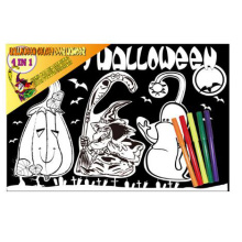cabide de porta decorativo Hallowmas kids fuzzy diy painting