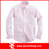 Mens Cotton Oxford Long Sleeve Shirt with Pocket
