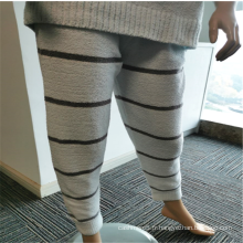 Pantalon de pyjama en flanelle d'intérieur à rayures pour femme