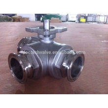 Hot Sale 3 way ball valves clamp End