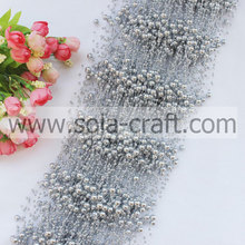 3+8MM Silver Colors Artificial Pearl String Beaded Garland