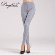 Las mujeres 100% de cachemira hasta el tobillo de longitud pantalones pantalones calientes mujeres pantalones de punto