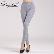 women 100% cashmere ankle-length super warm trouser pants women knitted pants