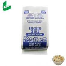 Bolsa de palomitas de maíz de papel kraft a prueba de grasa Kraft