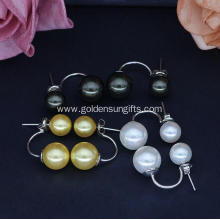 8MM and 10MM Shell Pearl Double Stud Earrings