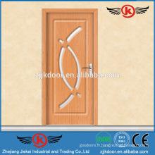 JK-P9086 pvc porte intérieure en plastique / profil pvc pour fenêtres et portes / porte en bois stratifié