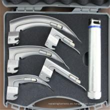 Laringoscopio médico profesional con iluminación de fibra