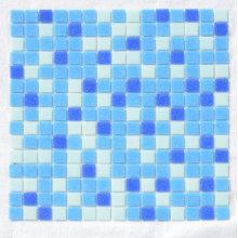 Azulejo mosaico azul Mosaique De Verre de vidro
