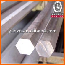 Barre hexagonale inox pour raccord de vanne
