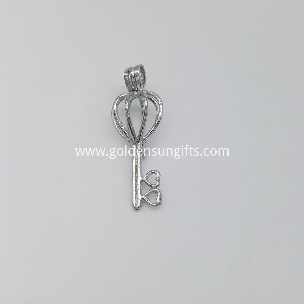 Silver Plated Key Heart