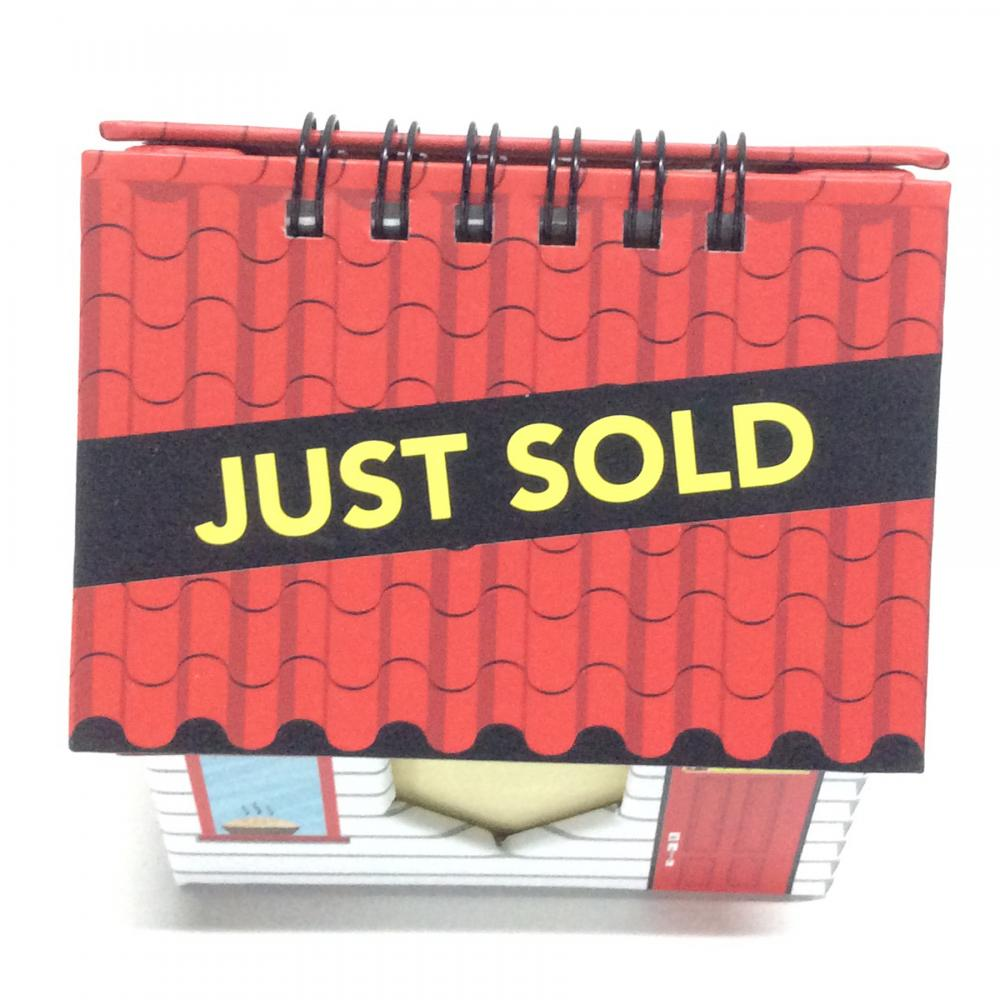 Paper Calendar House Shaped Sticky Note