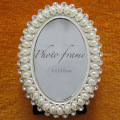 Bride Oval Pearl Wedding Photo Frame
