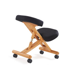 2017 HY5001 Ergonomic wooden / metal folding computer kneeling desk chair balance chair stool