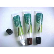 Envases de plástico, tubo Flexible, PE tubo de brillo con etiqueta