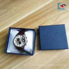 Caja de empaquetado de alta calidad del reloj de la cartulina rígida de encargo con el amortiguador de la esponja