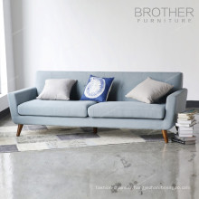 Salon meubles modernes tissu tufté 3 places canapé en bois