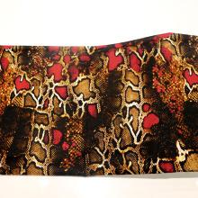 Tejido de algodón de impresión de piel de serpiente