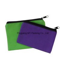 Custom Print Promotion Folding Non Woven Zipper Pencil Pouch Bag
