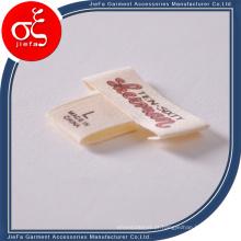 Etiqueta impressa tela feita sob encomenda do algodão do logotipo do tipo para a etiqueta de Gsrment