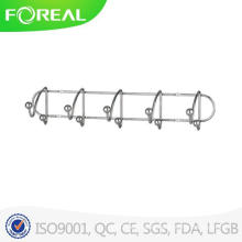 Wall Mounted 5 Hooks Clothes Hook with Metal Balls