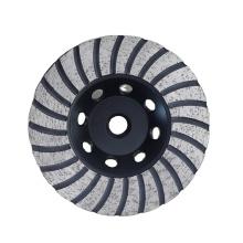 4 inch turbo concave abrasive diamond grinding cup wheel for granite stone concrete