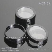 MC5158 Parafuso redondo para cima recipiente de pó de fundação da tampa