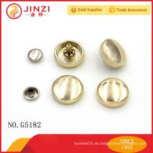 Jinzi marca de alta calidad de metal accesorios de bolsos pop remaches, sanp remaches