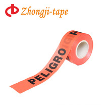 non adhesive red pe custom warning tape
