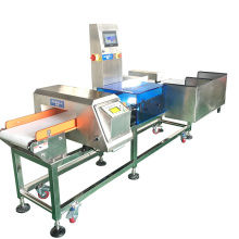 Combined Convey Belt Metal Detector Checkweigher machine for Food Industry