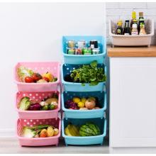 100% Original Factory for Kitchen Storage Plastic kitchen stackable basket export to Antigua and Barbuda Exporter