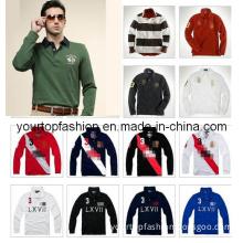 Fashion Men's Long Sleeve Polo Shirt, Dress Shirt for Men, Men's Cotton Tshirt