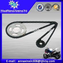 Muchas clases de piñón de la cadena de la motocicleta de la fábrica