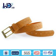 Модные тисненые мужские коричневые ремни
