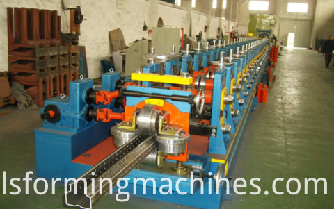 storage shelf upright pillar forming machine