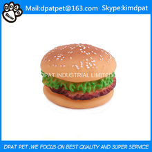 Latex Hamburger Toy for Pet Dog