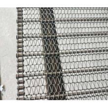 Ceinture en maille de chaîne en acier inoxydable 304 de qualité alimentaire