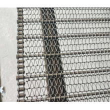 Cinturón de malla de cadena de acero inoxidable 304 de grado alimenticio