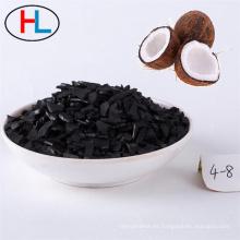 Adsorción de filtración de agua potable planta de suministro de agua de carbón activado